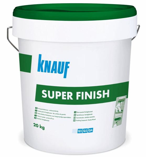 KNAUF Super Finish gatavā smalkā špaktele 20kg (zaļais)