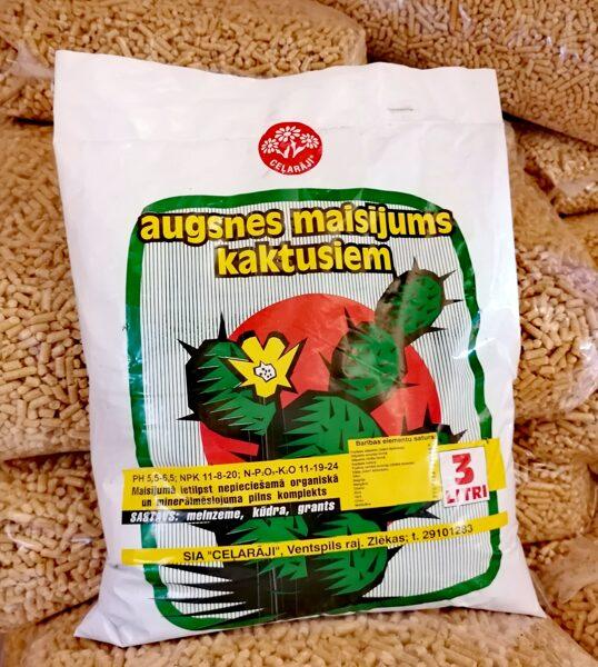 Ceļarāji augsnes maisījums kaktusiem, 3l