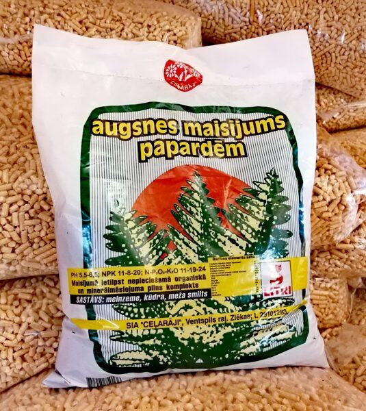 Ceļarāji augsnes maisījums papardēm, 3l