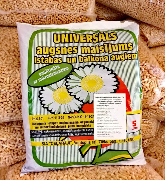 Ceļarāji universāls augsnes maisījums istabas un balkona augiem, 5l