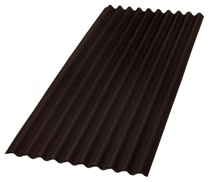 Jumta loksne onduline sheet classic p2105p brūns 2000x950 mm. (cena par gab.)