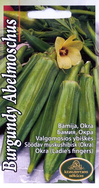 Bāmija (Okra)Burgundy Abelmoschus