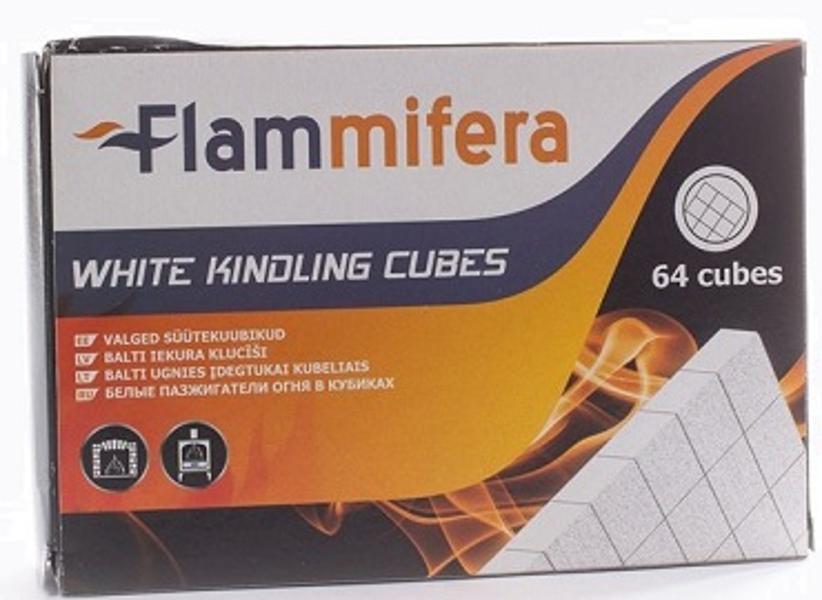 Iekurs kamīnam balts (64gab.) Flammifera