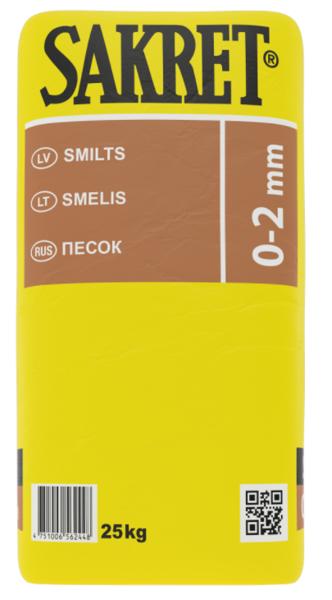 SMILTS SAKRET 0 - 2 MM 25KG