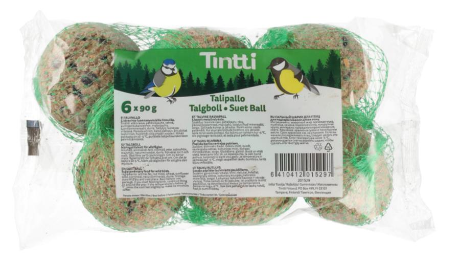 Barības bumbas putniem Tintti, 6 gab.