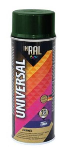Emalja aerosols inral universal ral6009, 400ml tumši zaļa