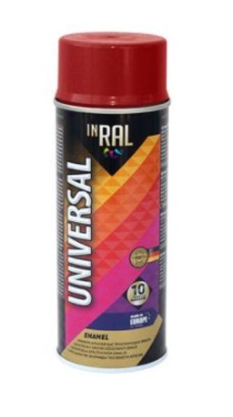 Emalja aerosols inral universal 400ml ral3005 tumši sarkans