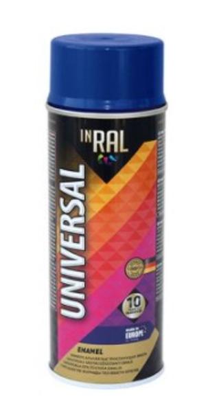 Aerosola emalja 400ml inral universal 33 ral5022 400ml tintes zila