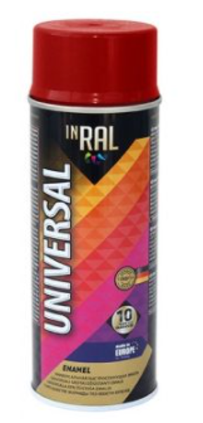 Aerosola emalja inral universal 400ml 24 ral3002 sarkana