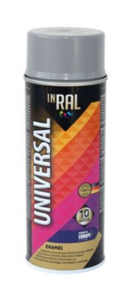 Emalja aerosols inral universal 400ml 06 ral7046, gaiši pelēks