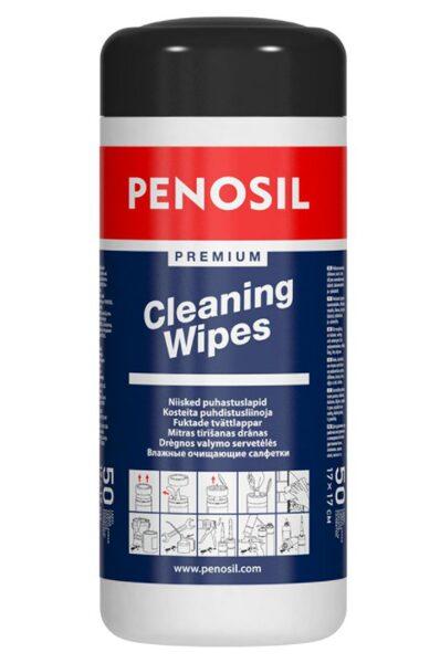 Mitrās attīrošās salvetes penosil premium cleaning wipes 17x17 cm, 50 gab.