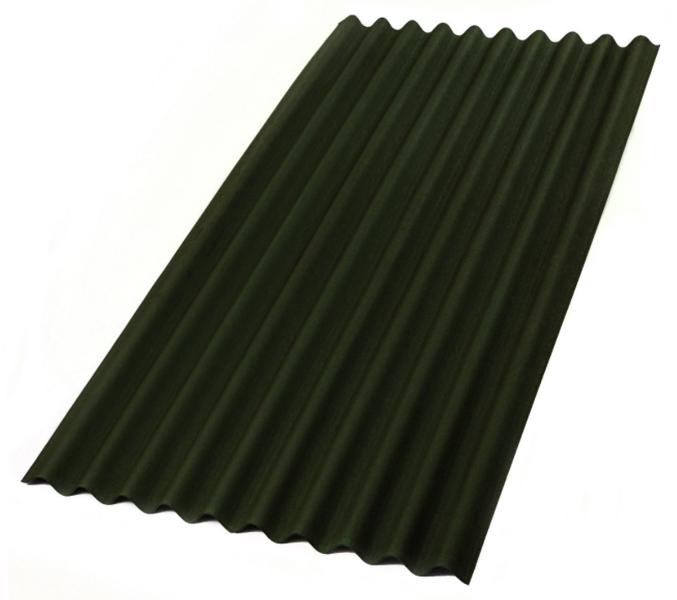 Jumta loksne onduline sheet classic p2106p zaļš 2000x950 mm, 50 gab. (cena par gab.)