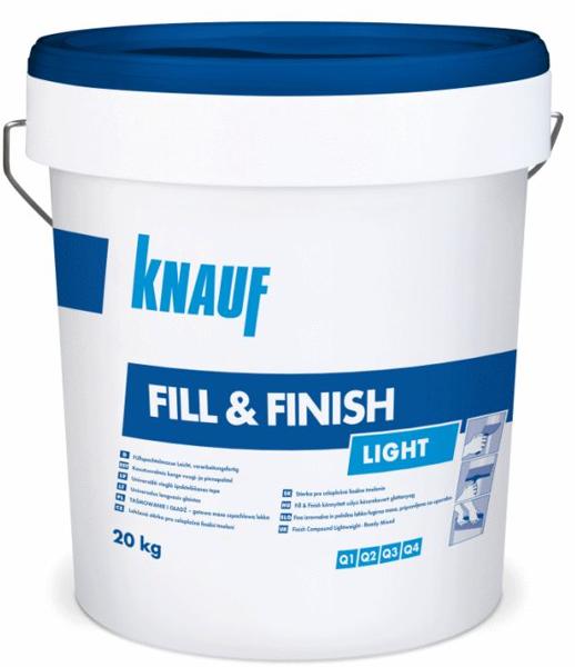 KNAUF Fill finish light gatavā vieglā špaktele 20kg (zils)