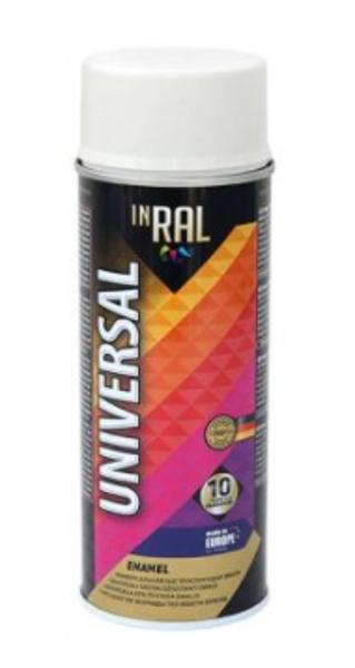 Emalja aerosols matēts inral universal 400ml ral9003 balts