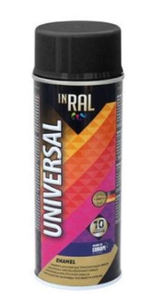 Emalja aerosols glancēts inral universal 400ml ral9017 melns