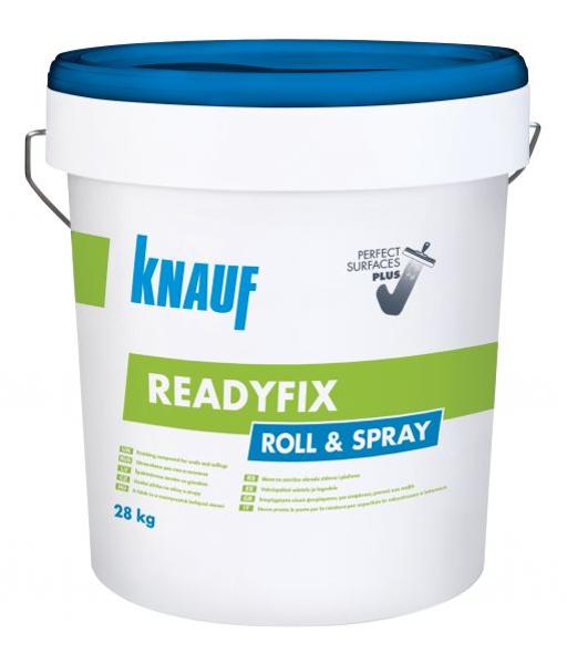 KNAUF READYFIX Roll & Spray 28kg gatavā špaktele