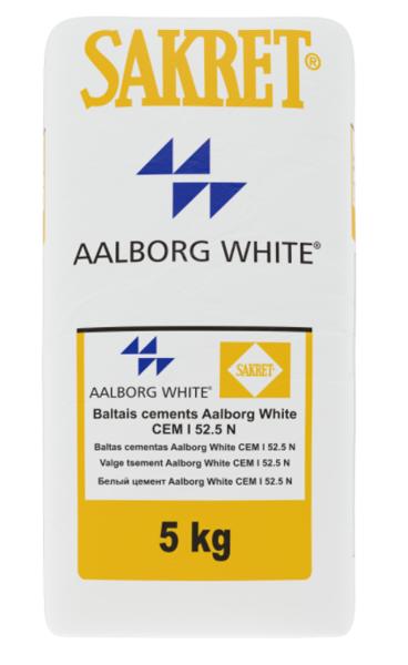 Baltais cements Sakret aalborg white CEM I 52,5 R 5KG
