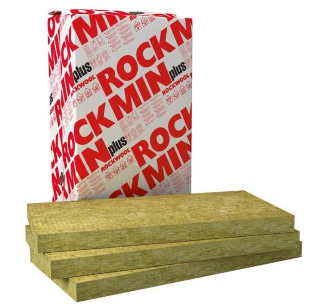 AKMENS VATE ROCKWOOL ROCKMIN PLUS 70X1000X610 MM 7.32 M2 (CENA PAR IEPAKOJUMU)