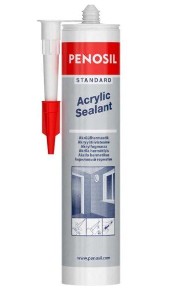 Akrila hermētiķis penosil standard acrylic sealant white 280ml